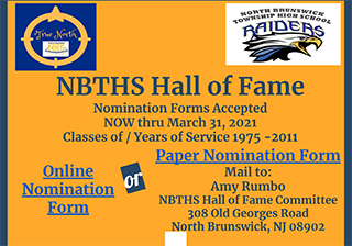 2021 NBTHS Hall of Fame - STILL OPEN!