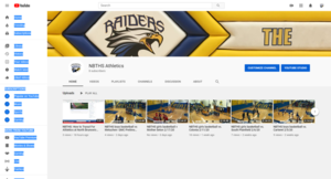 NBTHS Athletics Launches a YouTube Channel