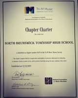 NBTHS becomes a charter member of the NAfME Tri-M Music Honor Society