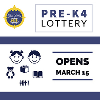 Pre-K4 Lottery Opens March 15, 2021