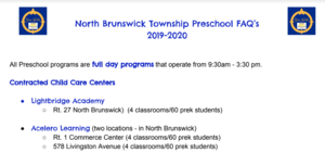 Information About Preschool