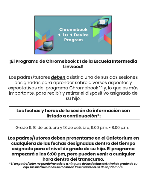 Linwood Chromebook Espanol