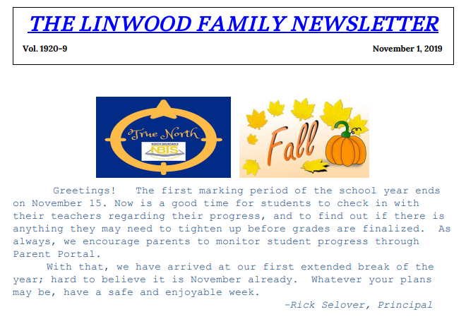 Linwood Family Newsletter 9