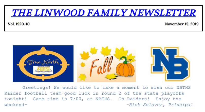Linwood Family Newsletter 10