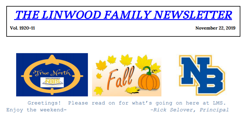 Linwood Family Newsletter 11