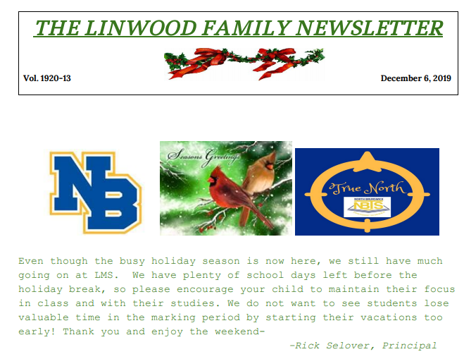 Linwood Family Newsletter 13