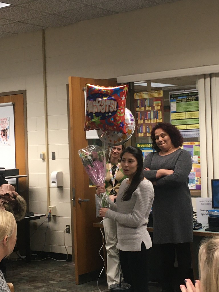 Mrs. Campana thanking her colleagues!