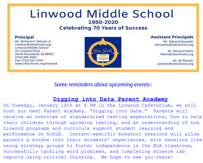 Linwood Reminders