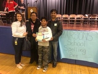 Winner of the Parsons Spelling Bee Armaan Mohamed!