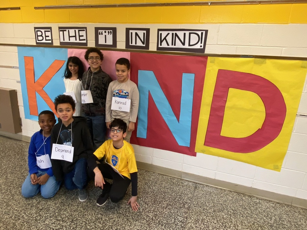 "Our fourth grade participants putting the ""i"" in KIND! Way to support each other!"