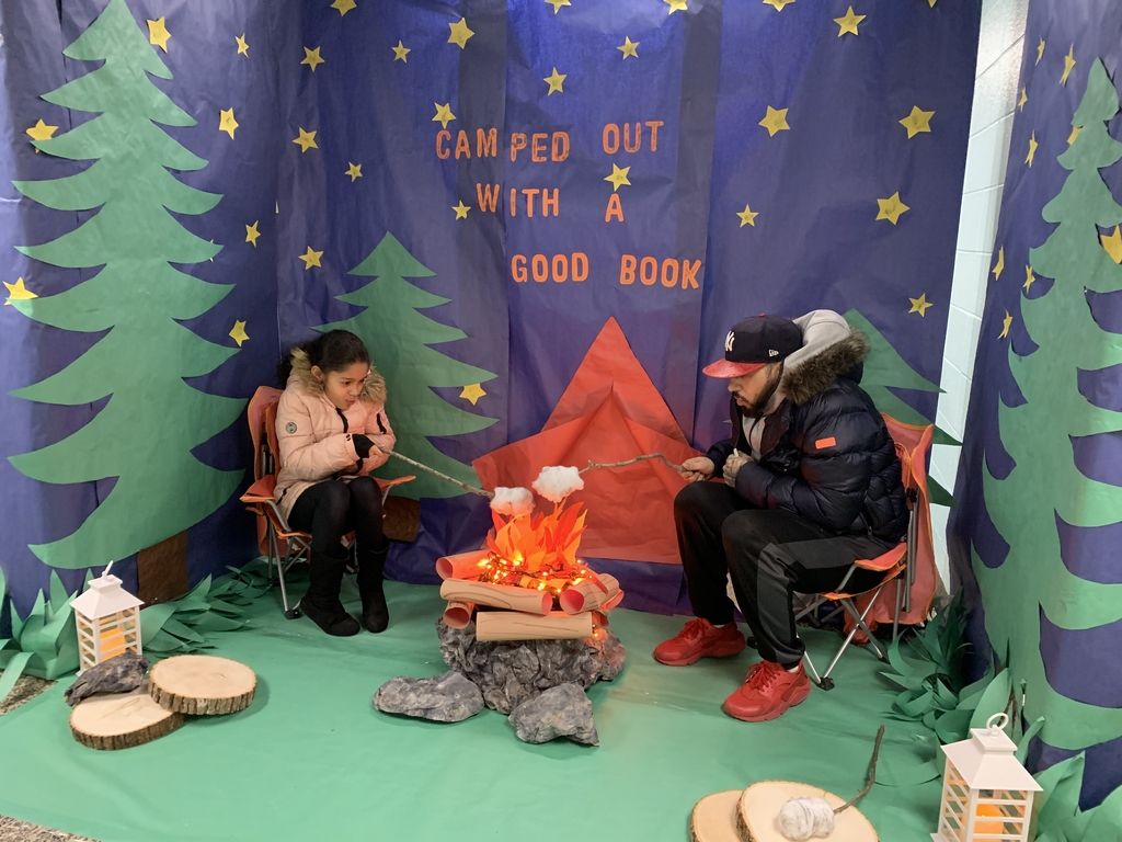 We're Camped Out with a Good Book!