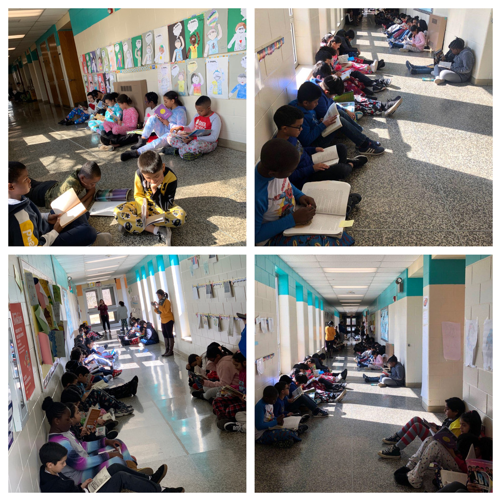 Reading together as a school!