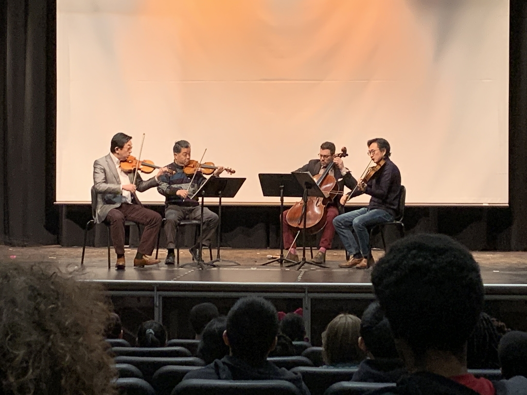 Shanghai String Quartet from Montclair NJ performs